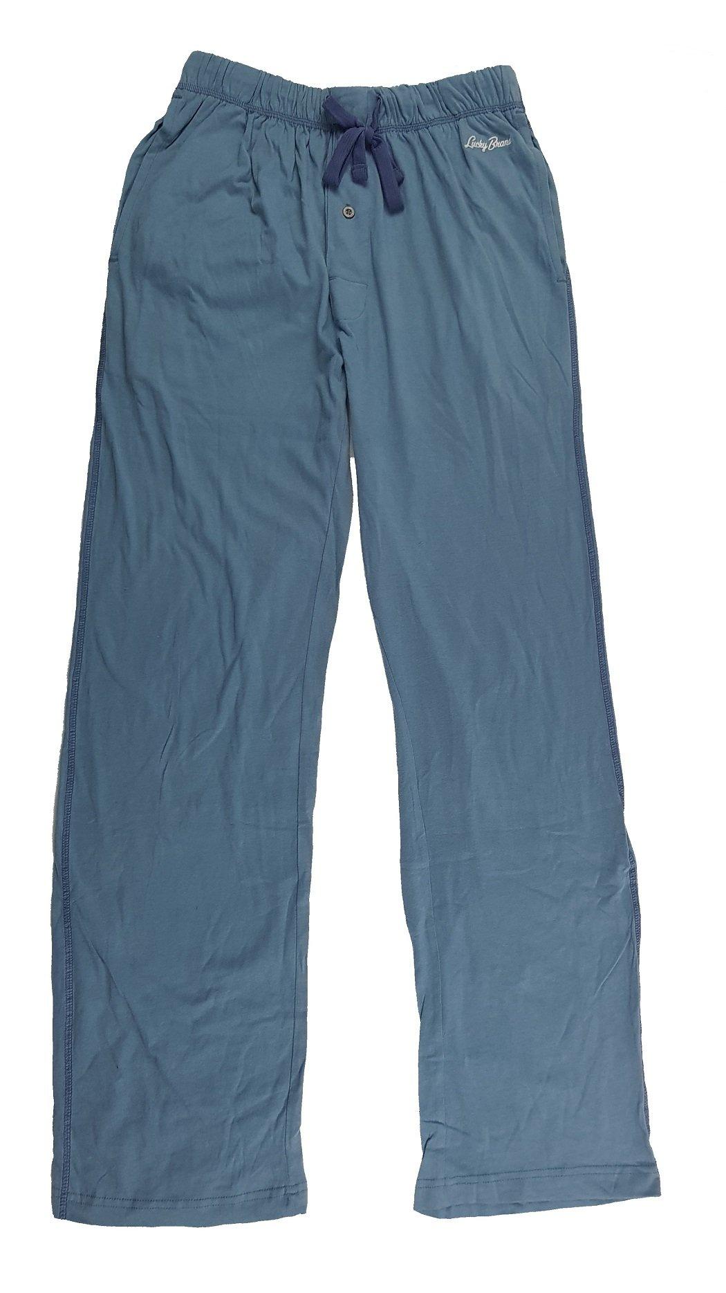 Lucky Brand Men's Jersey Knit Lounge Pajama Pant (Captains Blue, S)
