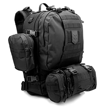 660ec9ded201 Paratus 3 Day Operator s Pack - Military Style MOLLE Compatible Tactical  Backpack (Black)