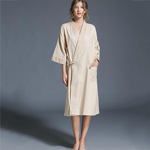 Pijama Albornoz para Hombre y Damas Kimono Camisón Algodón Pareja ...