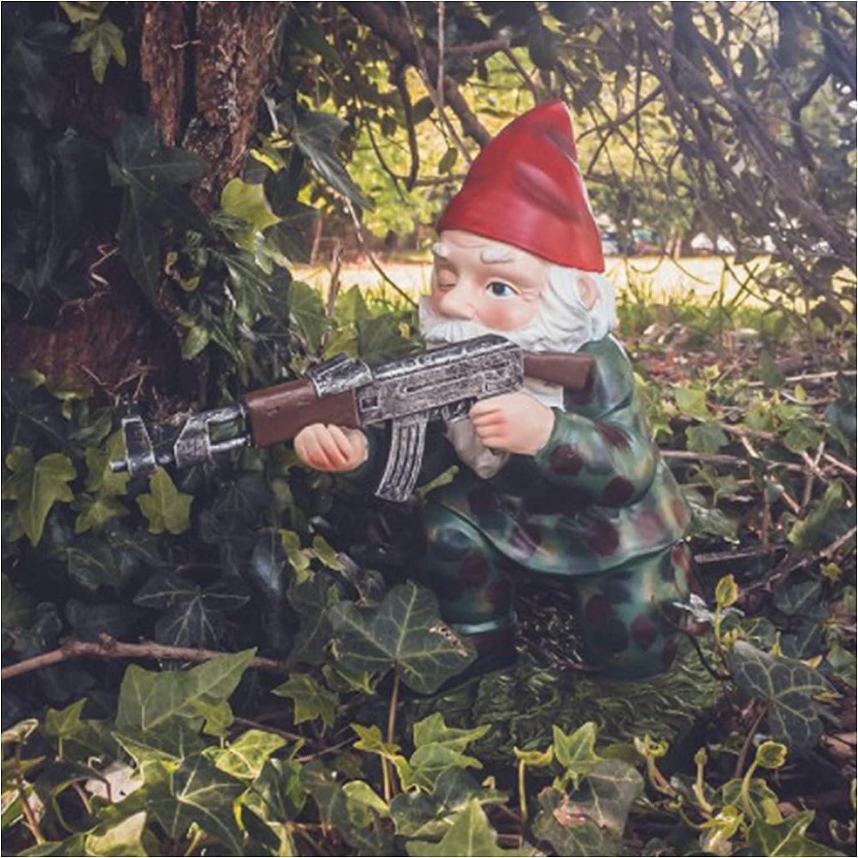 LEFUYAN Gnome Defender Army Garden Dwarf Christmas Garden Statue Lawn Decoration Use Resin Crafts for Indoor Or Outdoor Christmas Decoration