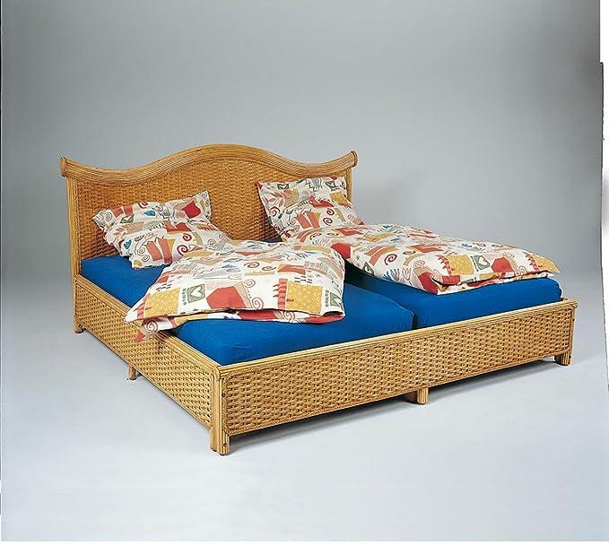 Hansen Rattan 3765/180 C caña de rota (cama barnizado miel/sin marco, colchón y ropa de cama/B 195 T 210 h 35/103 cm: Amazon.es: Juguetes y juegos