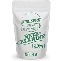 Purisure Beta Alanine Powder 1kg (1,334 Servings), Endurance for Workout, Train Harder for Longer Hours, Increase Muscle…