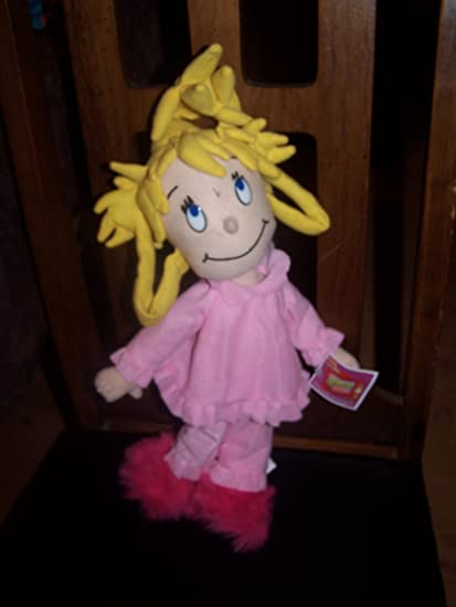cindy lou who plush doll how the grinch stole christmas