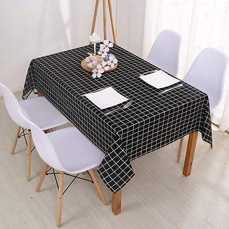 AKSHOME Mantel Simple Moderno Celosía Cuadrada Algodón Impermeable ...