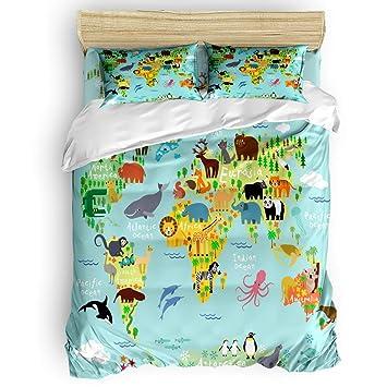 Amazon.com: Sunteeny - Juego de ropa de cama de 4 piezas ...