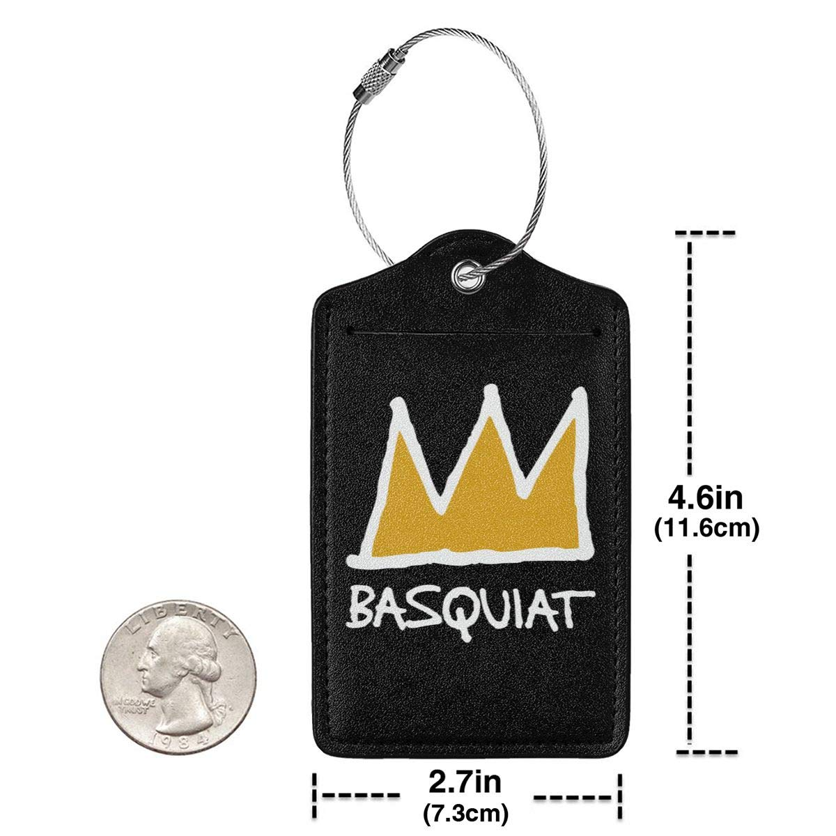 Basquiat Leather Luggage Tag Travel ID Label For Baggage Suitcase