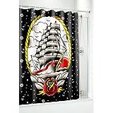 Clipper ship rideau de douche de voilier sourpuss clothing-tattoo