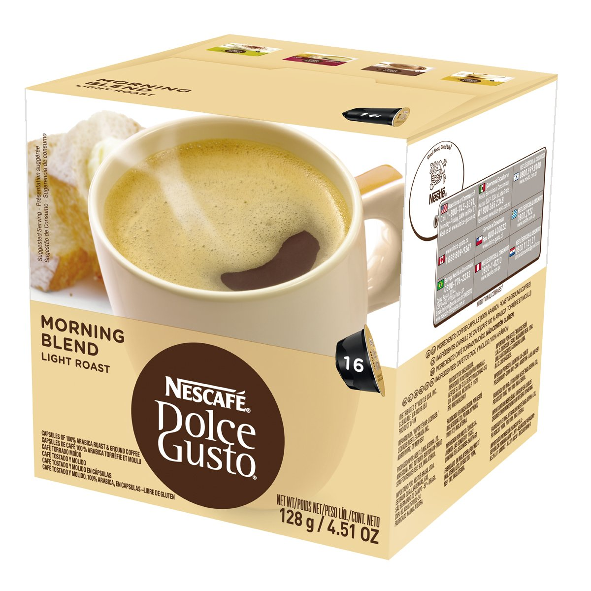 Amazon.com : Nescafe Dolce Gusto for Nescafe Dolce Gusto Brewers, Vanilla Latte Macchiato, 16 Count : Coffee Brewing Machine Capsules : Grocery & Gourmet ...