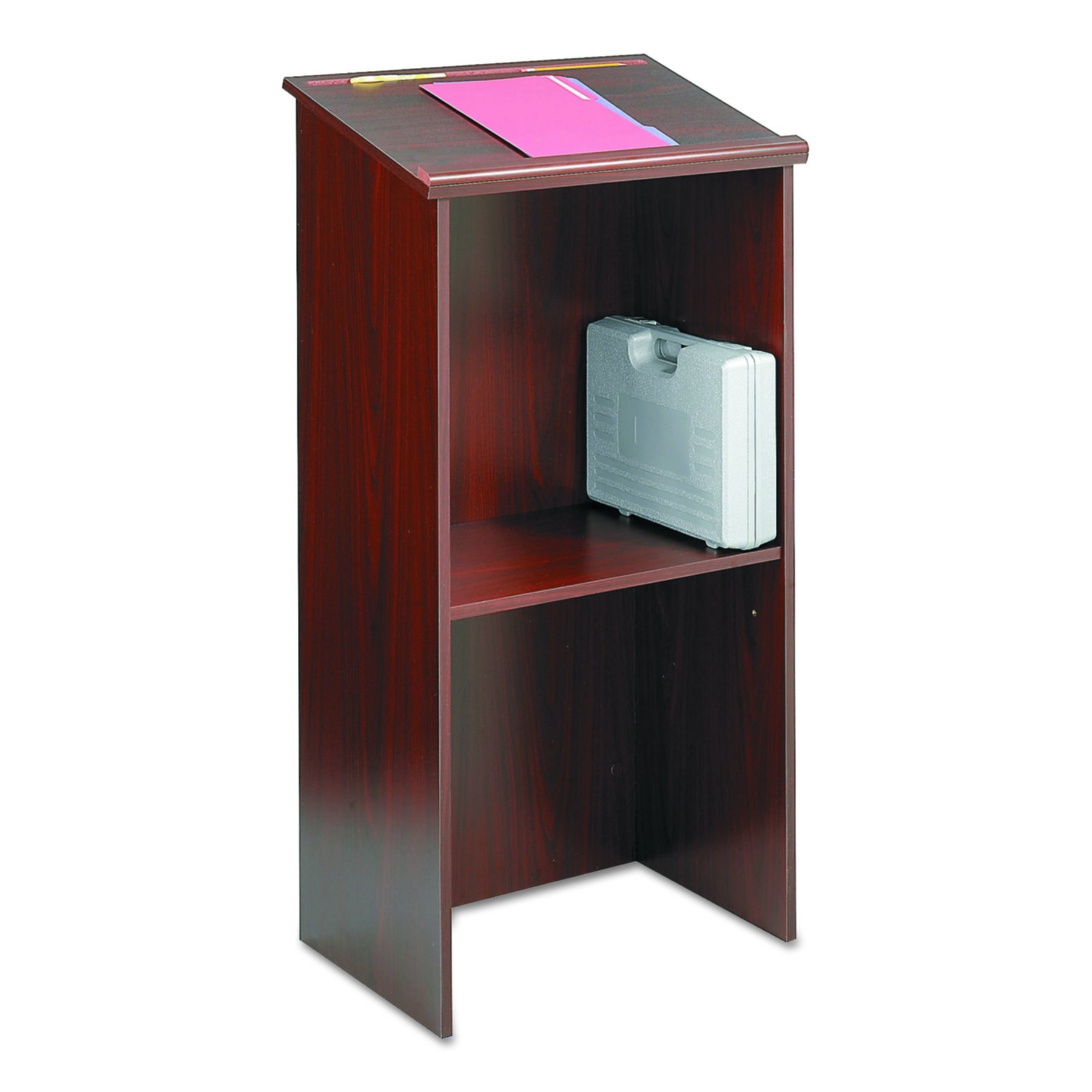 Safco Products 8915MH Stand-Up Lectern, Mahogany