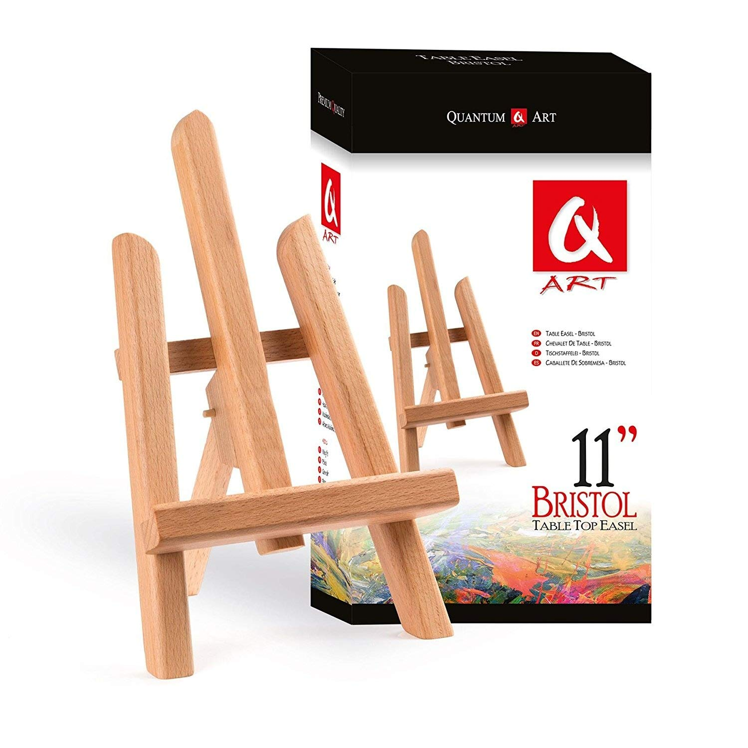 Table Top Easel 270mm BRISTOL - Beech Wood by Quantum Art QA-TE-BRISTOL-270BW