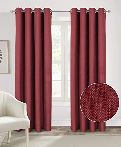 Alexandra Cole Burgundy Christmas Curtain