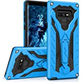 Zizo Static Series Compatible with Samsung Galaxy Note 9 Case Military Grade Drop Tested with Built in Kickstand Blue Black