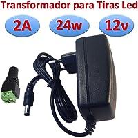 Transformator 12 V DC 2 A 24 W voeding voor ledstrips, stroomvoorziening 220 V -> 12 V (12 V, 2 A, 24 W)