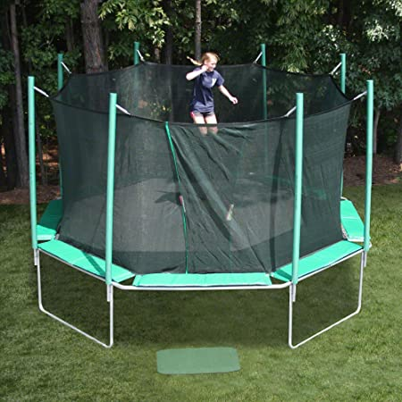 This Octagonal Shaped Trampoline Features An Integrated Safety Cage Thatu0027s  Designed To Provide Years Of Safe And Maintenance Free Outdoor Use For Your  ...