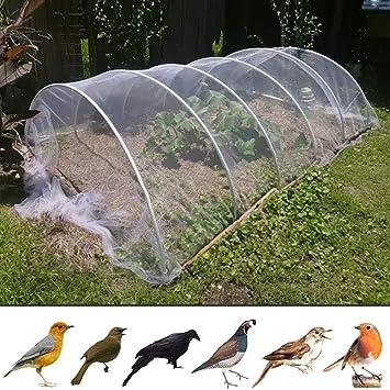 SHDT 13 * 50M De Nylon Anti Red del Pájaro, Jardín Red para Proteger Los Árboles Frutales, Plantas Y Vegetales, Estanque Cubierta De La Red, El Tamaño De Malla De 2,4 X