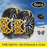 soyond Car Tire Snow Chains - Emergency Anti Slip Adjustable Traction