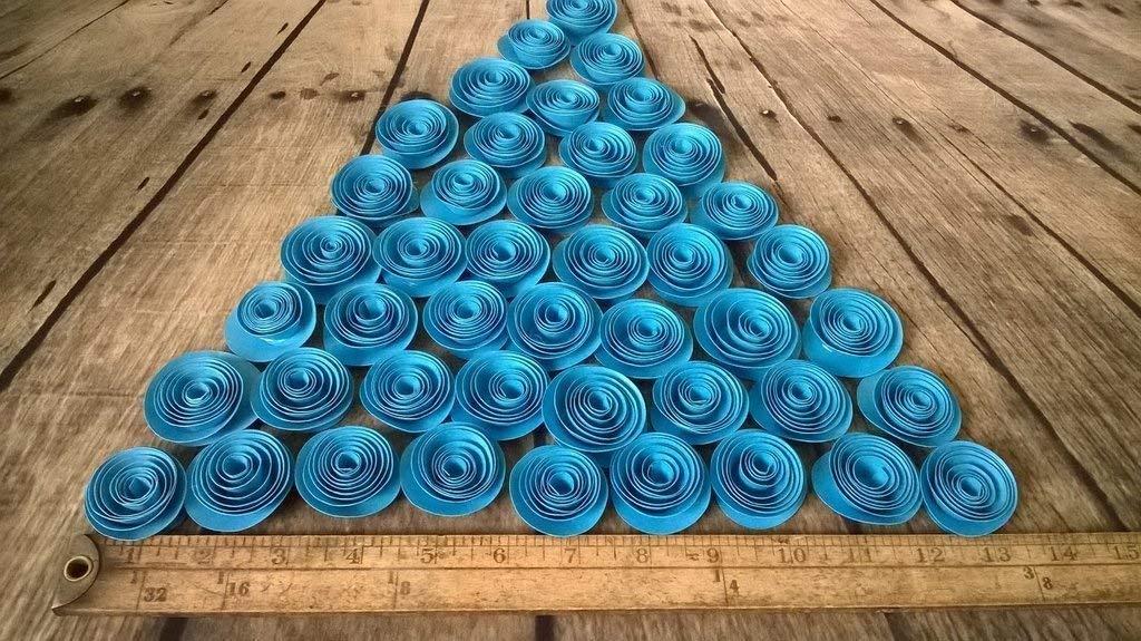 Wedding Reception Table Scatter Fuchsia Paper Flowers Set of 24 Baby Shower Decor Bulk Hot Pink 1.5 Inch Roses Lot Girl Nursery Ideas