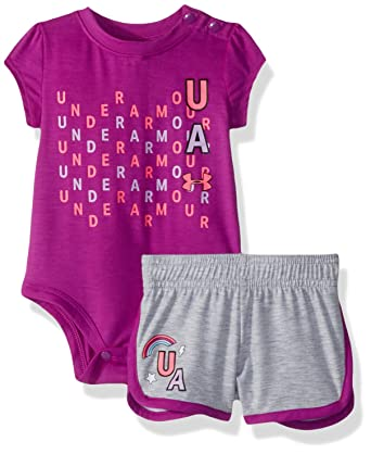 54e89fd5c0ac5 Amazon.com: Under Armour Baby Girls Bodysuit Or Infant Tee/Tank ...