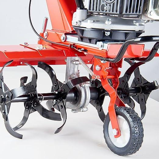 Motoazada de cultivos a gasolina, fresadora motorizada de labranza. 3,8 kW - 5,2 CV, ancho de trabajo de 36/60 cm, GartenXL GF-600-B.: Amazon.es: Bricolaje ...