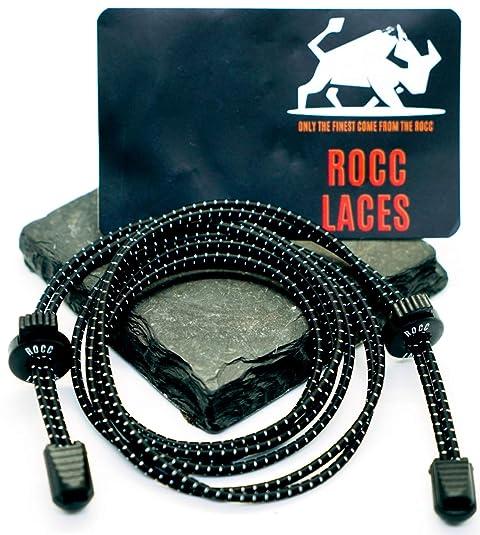 Cordones ROCC [elásticos sin cordones de corbata]: Amazon.es ...