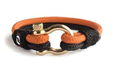 Handmade Paracord Bracelet For Mens With Stainless Steel Gold