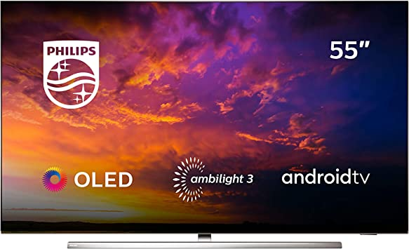 Philips 55OLED854/12 - Televisor Smart TV OLED 4K UHD, 55 pulgadas, Android TV, Ambilight 3 lados, HDR10+, Dolby Vision, Google Assistant, compatible con Alexa, color gris: Amazon.es: Electrónica