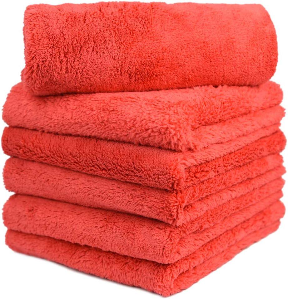 YellowandGrey 500GSM Premium Plush Microfiber Towel Professional Wash//Cleaning