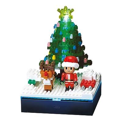 Nanoblock Optical Fiber LED+ Christmas Tree (NBH-168): Toys & Games