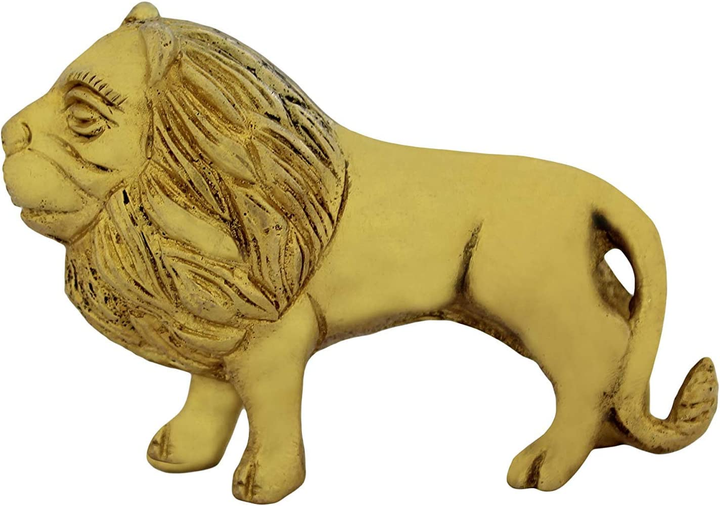 Vintage Beautiful Wild Lion Animal Figurine Ornament Model Toy Collector H