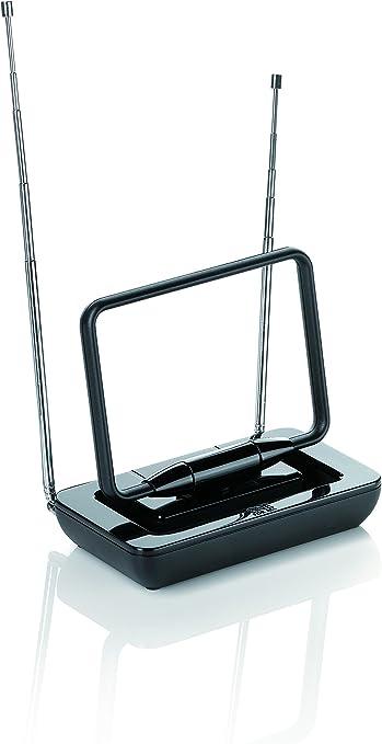 One For All SV9125, Antena de TV para Interior Amplificada, Recibe TDT en un rango de 15km, Antena HDTV Digital, Incluye Cable Coaxial de Alto ...