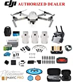 DJI Mavic Pro Platinum - Drone - Quadcopter - Fly More Combo - with 3 Batteries, 4K Professional Camera Gimbal Bundle Kit with DJI Bag, 64GB SD Card, Range Extender,Landing Pad, Must Have Accessories