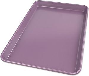 USA Pan 1040JR-AP-1 Allergy Id Nonstick Jelly Roll Baking Pan, Purple