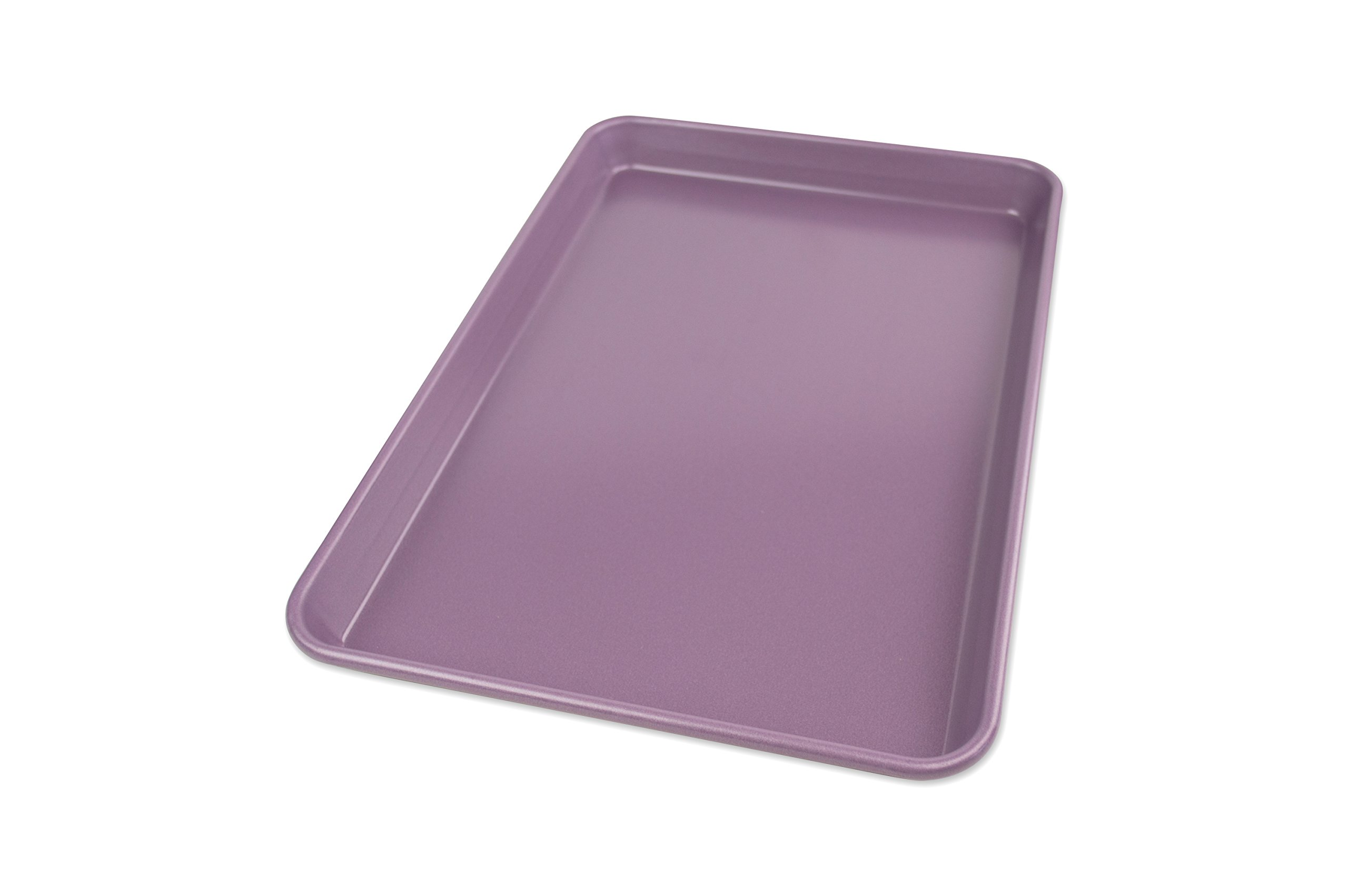 USA Pan 1040JR-AP-1 Allergy Id Nonstick Jelly Roll Baking Pan, Purple by USA Pan