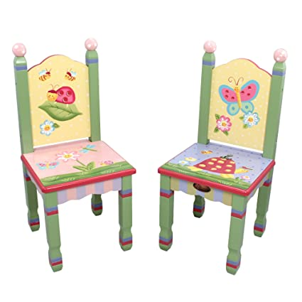 2 sillas de madera Magic Garden Fantasy Fields para niños (sin mesa) W-