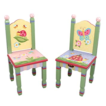 Fantasy Fields   Magic Garden Thematic Kids Wooden 2 Chairs Set |  Imagination Inspiring Hand Crafted