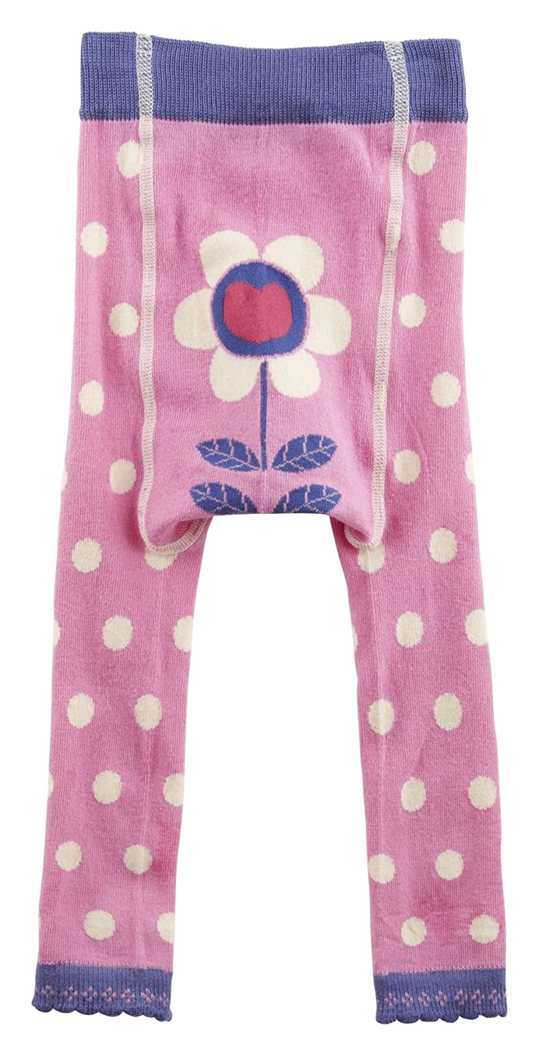 Piccalilly in cotone biologico rosa Girls Spotty calze senza piede