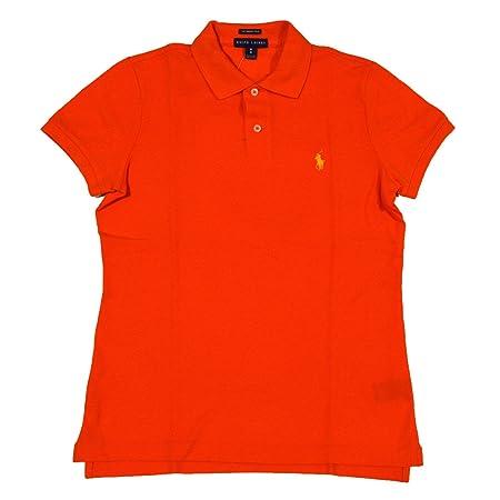Ralph Lauren Polo Mujer Ajustado Polo Camisa Nautica Naranja ...