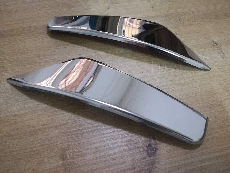 Juego de 2 molduras de acero inoxidable cromadas para el viento de Strenamline