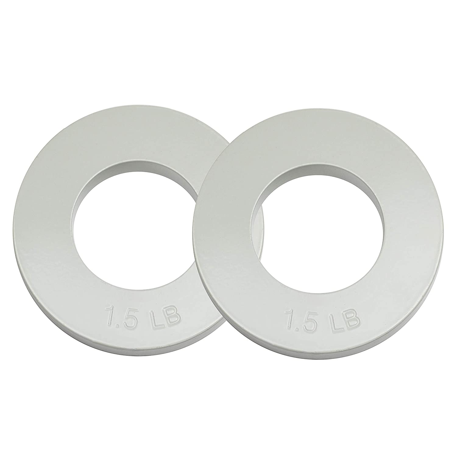 Logest Fractional Olympic Plates Set of 2 Plates – 1 LB 1.25 LB 1.5 LB Choose Set Fractional Weight Plates Designed for Olympic Barbells for Strength Training and Micro Plates Weight Plates