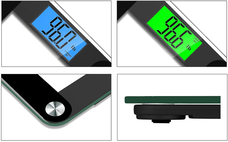 BalanceFrom - Báscula de Baño de Alta Precisión MemoryTrack Plus digital conSmart Step-On y Tecnología MemoryTrack, Pantalla retroiluminada extragrande de ...