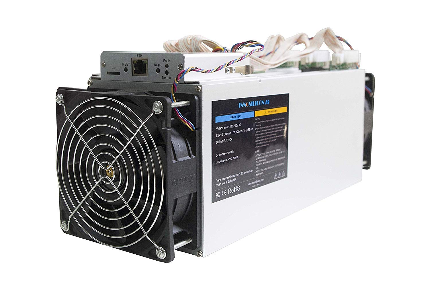 Innosilicon Equihash A9 ZMaster, 50Ksol/s 620W Powerful Equihash Miner with PSU with Low Consumption- A Few Times Better Hash Rate & Efficency Than Any Competition ZJW