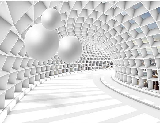 Fototapete Architektur 3D - Kugel Weiß Vlies Wand Tapete Wohnzimmer  Schlafzimmer Büro Flur Dekoration Wandbilder XXL Moderne Wanddeko - 100%  MADE IN ...