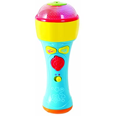 PlayGo Tiny Musicians Sing Along Mic Music Player with built in Speakers, Preprogrammed Music For 18 Months & Up: Toys & Games