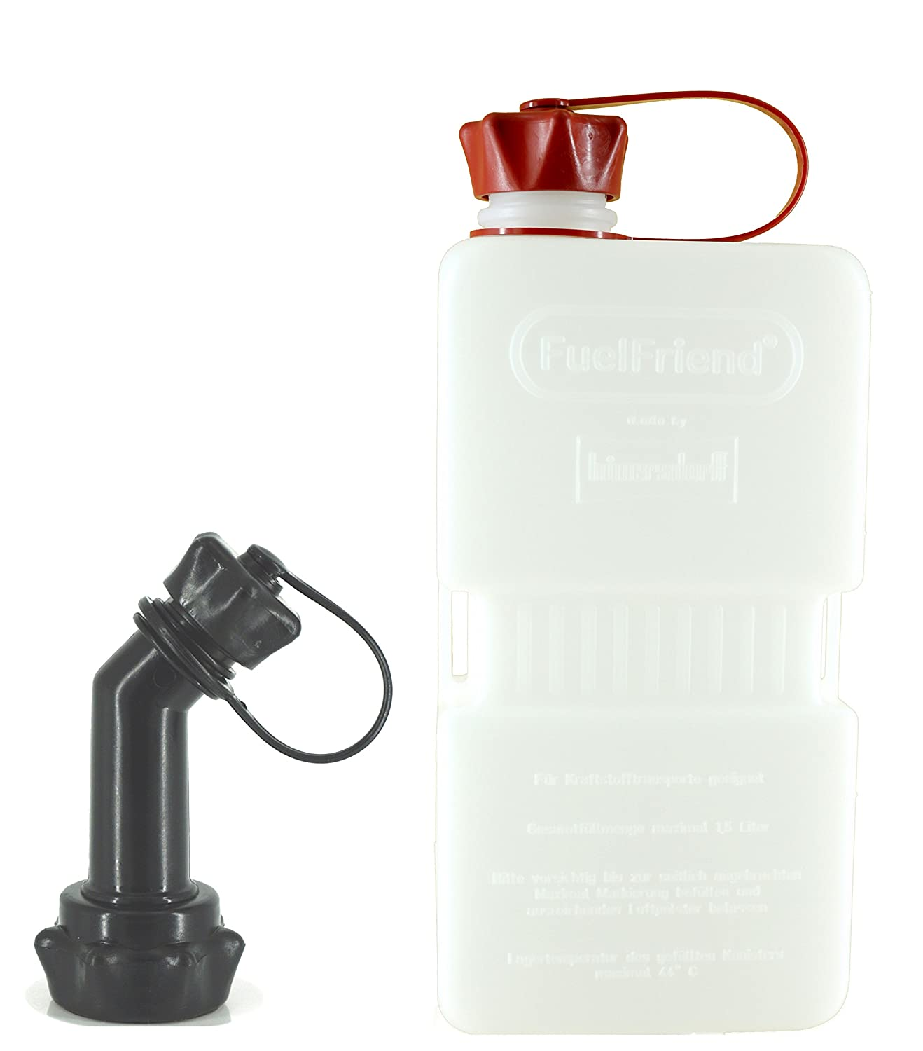 FuelFriend® -PLUS CLEAR - Jerrycan 1.5 liters + spout lockable hünersdorff FFPC15FRv