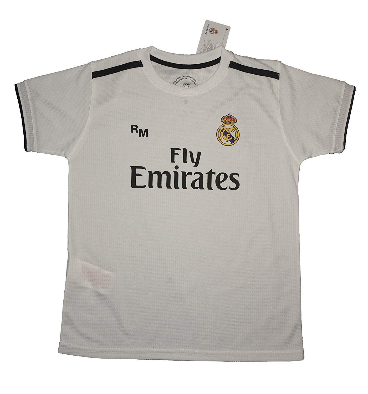 Real Madrid FC Camiseta Infantil Réplica Oficial Primera Equipación 2018/2019 (8 Años): Amazon.es: Juguetes y juegos