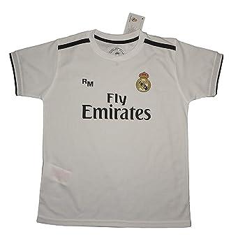 7736f4825 Real Madrid FC Camiseta Infantil Réplica Oficial Primera Equipación 2018  2019 (14 Años)  Amazon.es  Deportes y aire libre