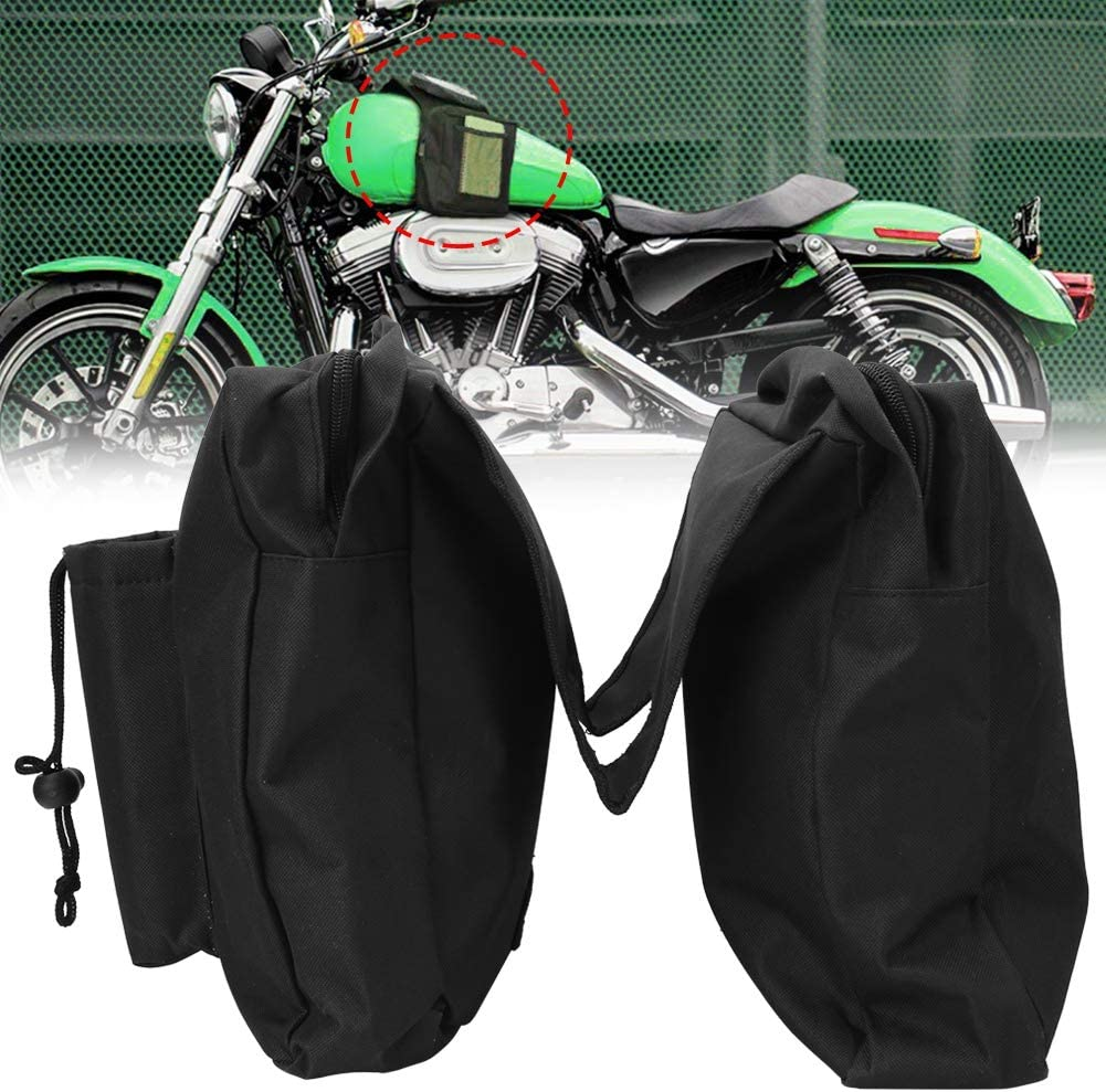 Alomejor Motorcycle Saddle Bag Polyester Multi-use Motorcycle Beach Buggy Snowmobiles Front Hanging Pouch Saddle Bag