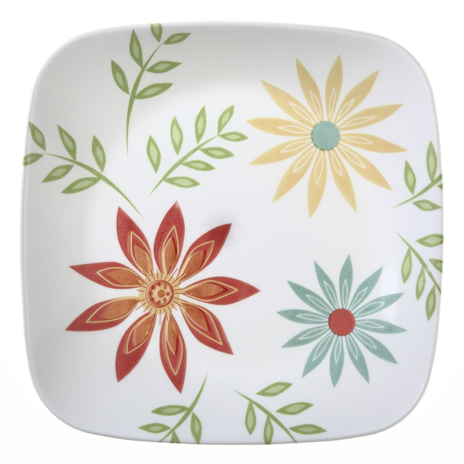 """Corelle Square Happy Days 8-3/4"""" Lunch Plate (Set of 12)"""