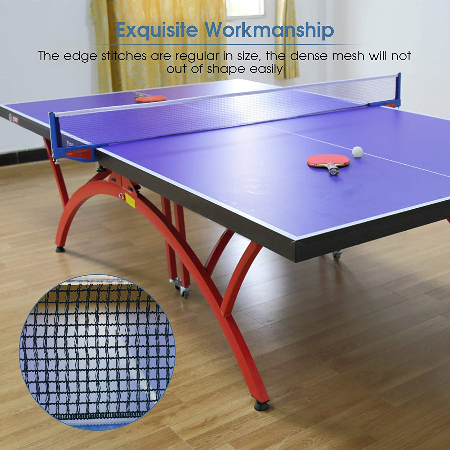 YHG Table Tennis Net Portable Instant Retractable Table Tennis Rack Net for Training and Practicing Table Tennis