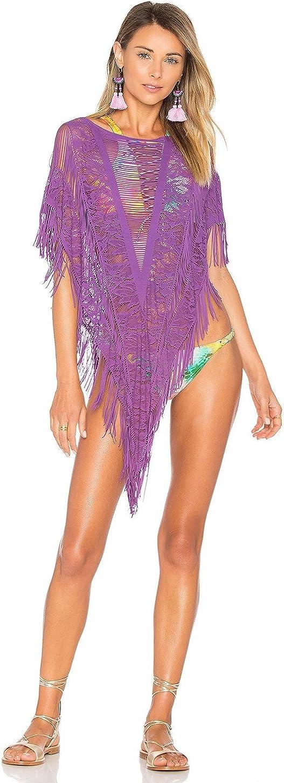 Beach Bunny Swimwear Indian Summer Poncho in Sapphire